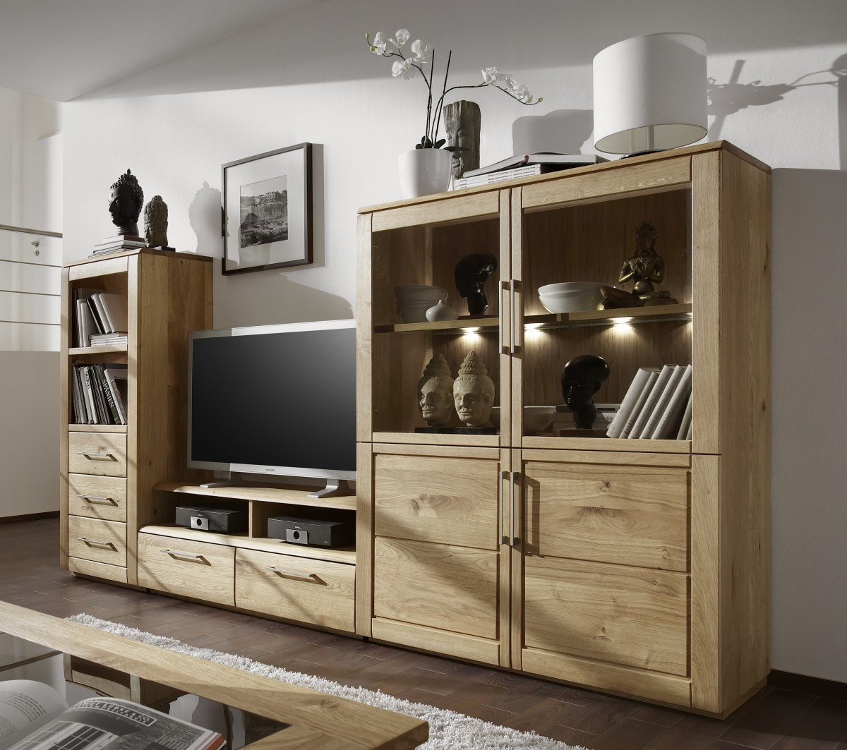 moderne fernsehwand im wohnzimmer ideen top. Black Bedroom Furniture Sets. Home Design Ideas