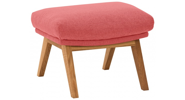 Hocker Garbo Pink Holzfuß-Design Hocker