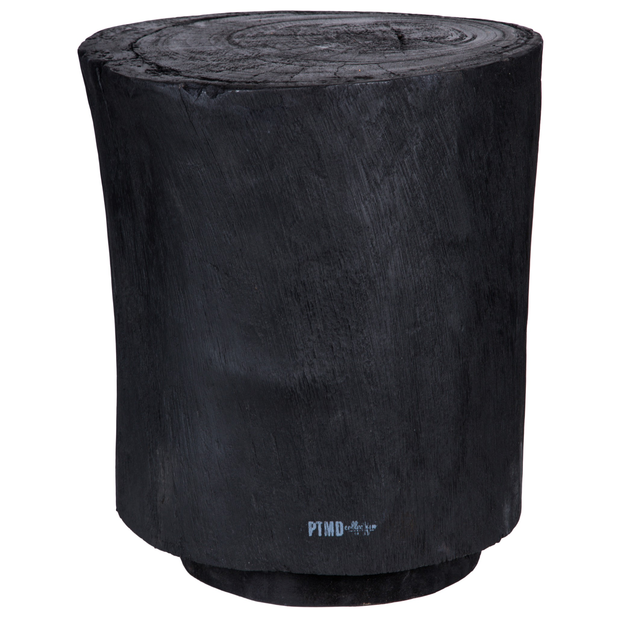 Hocker massiv schwarz-hocker design