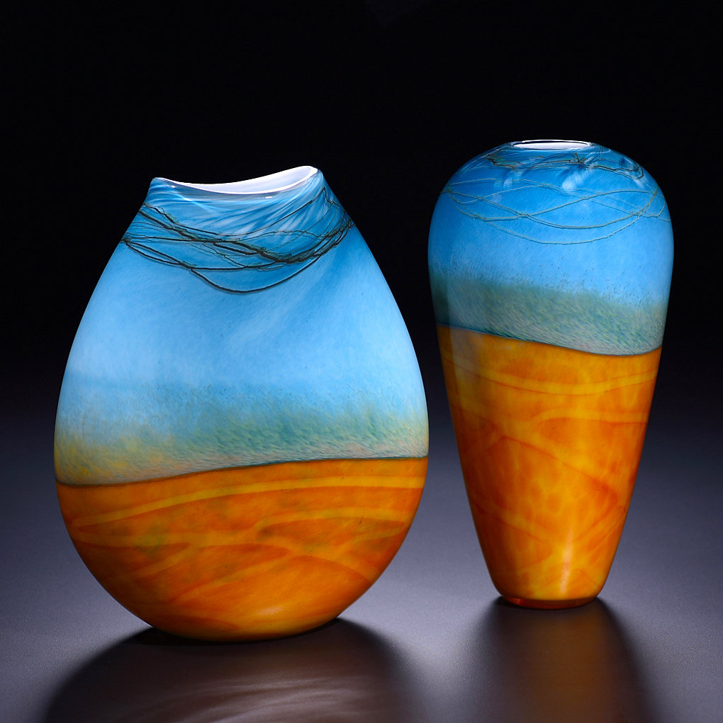 Art glass vase-deko Vasen