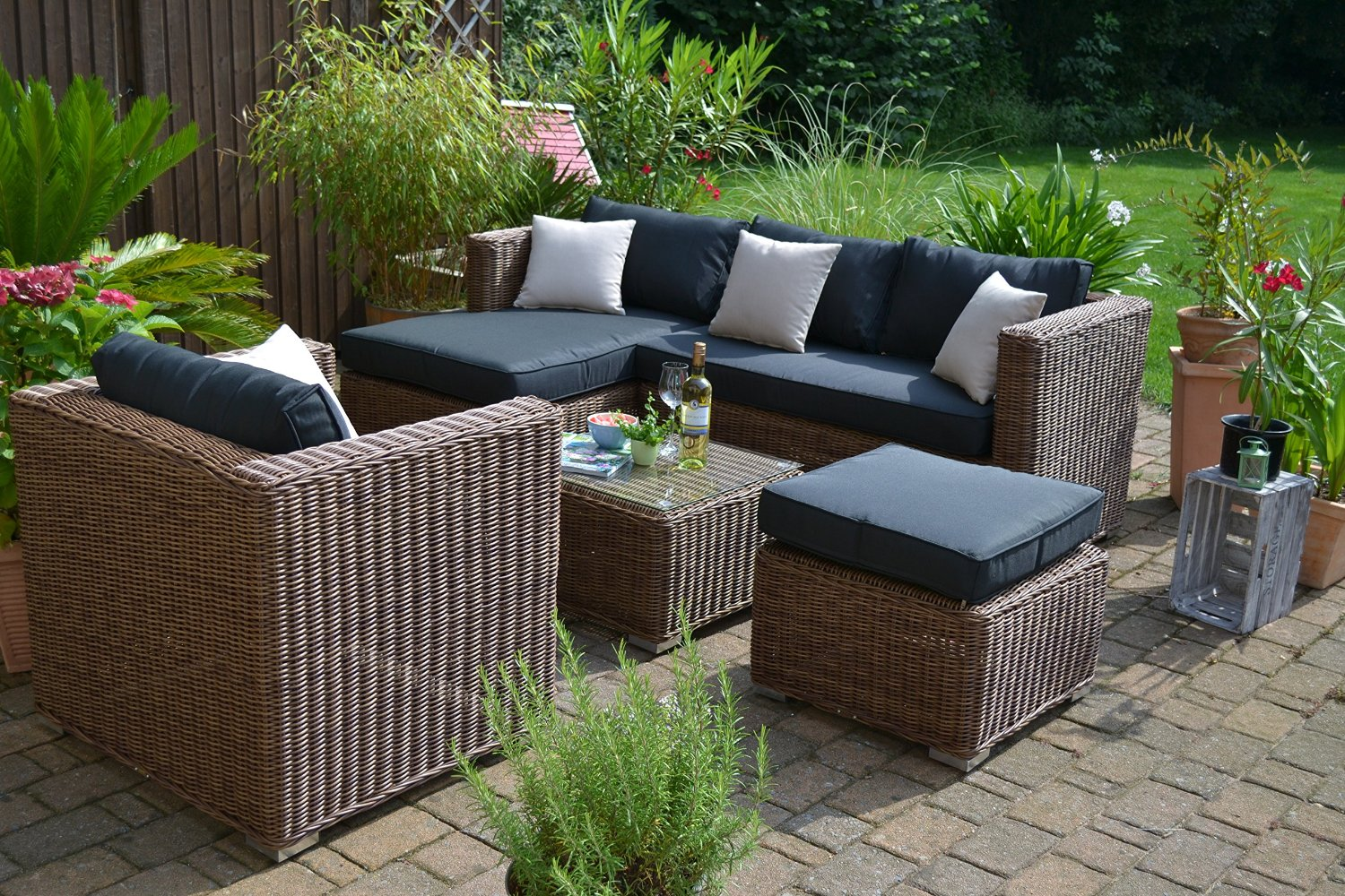 gartenm bel aus polyrattan outdoor m bel polyrattan. Black Bedroom Furniture Sets. Home Design Ideas