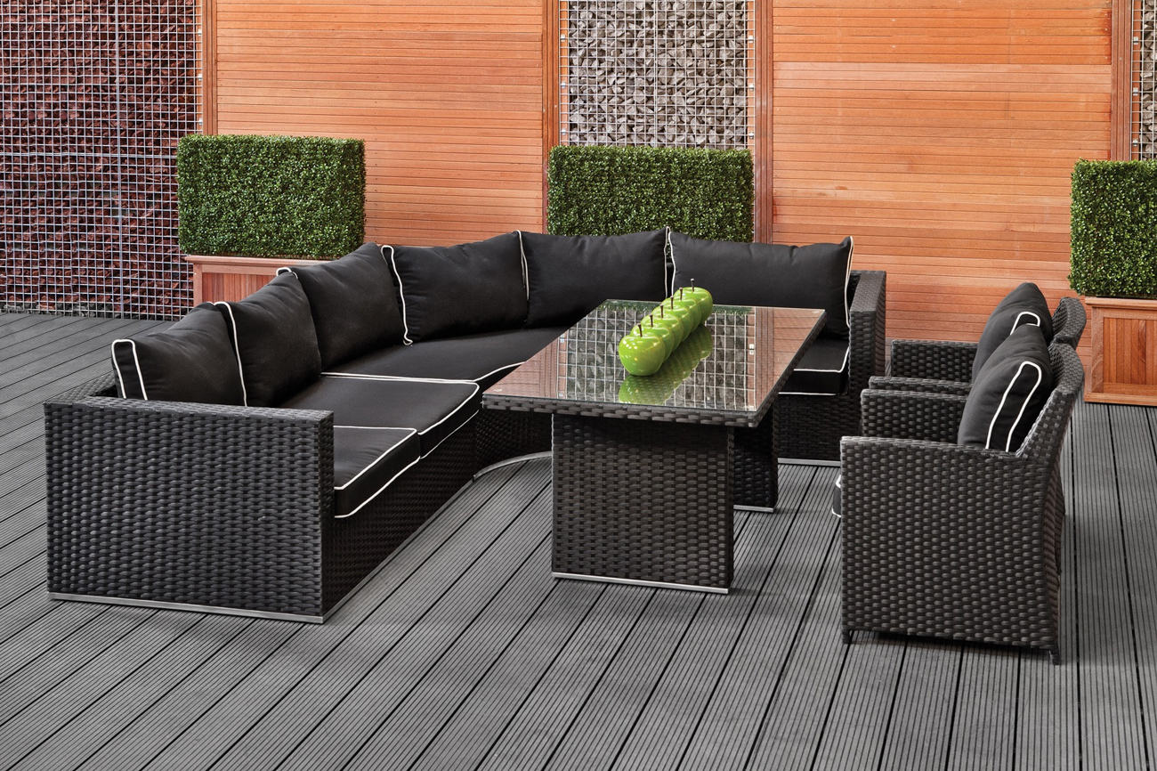 rattantische f r den garten rattan gartenm bel ideen top. Black Bedroom Furniture Sets. Home Design Ideas
