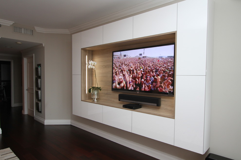 Wandpaneel Regal antikweiß Massivholz -tv wandpaneel