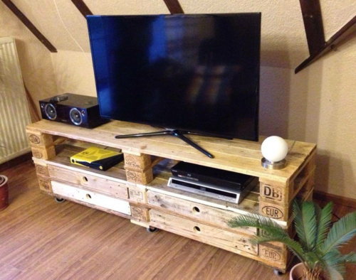 Euro-Paletten Sideboard  tv regal ideen